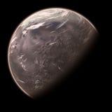 Il pianeta straniero in su-si chiude Fotografie Stock