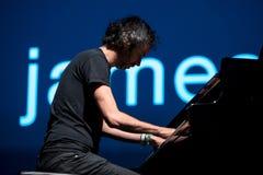 Il pianista e lo scrittore di James Rhodes esegue di concerto al festival del sonar Fotografie Stock Libere da Diritti