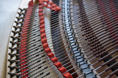 Il pianoforte a coda mette insieme l'estratto Fotografie Stock Libere da Diritti