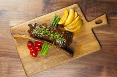 Il piatto principale choice del cuoco unico Immagine Stock