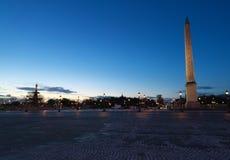Il piazza de la Concorde al crepuscolo Immagine Stock