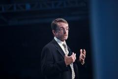Il picchiettio Gelsinger trasporta il concetto fondamentale a Oracle OpenWorld fotografia stock