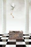 Il piccione e un tasto fantastico Fotografia Stock