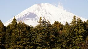 Il picco del monte Fuji nell'inverno, Giappone fotografia stock