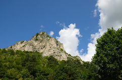 Il picco della montagna Immagini Stock Libere da Diritti