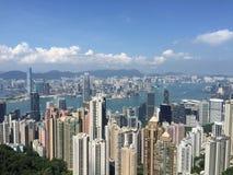 Il picco della vista della città di Hong Kong Fotografia Stock Libera da Diritti