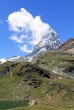 Il picco leggendario in nuvole, Svizzera del Cervino Fotografia Stock Libera da Diritti