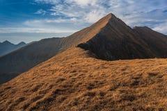 Il picco in montagne di Fagaras, Romania di Moldoveanu Immagine Stock Libera da Diritti