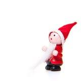 Il piccolo Babbo Natale fatto a mano Fotografia Stock Libera da Diritti