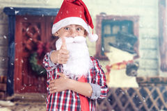Il piccolo Babbo Natale sveglio Fotografia Stock Libera da Diritti