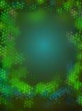 Il piccolo bokeh verde accende il modello Fotografia Stock