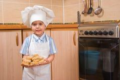 Il piccolo cuoco fotografia stock