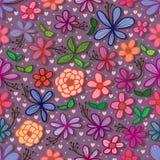 Il piccolo disegno del fiore allinea il modello senza cuciture illustrazione vettoriale