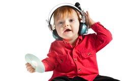 Il piccolo DJ Fotografia Stock