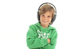 Il piccolo DJ Fotografie Stock Libere da Diritti