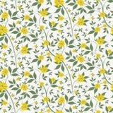 Il piccolo giallo fiorisce il fondo senza cuciture royalty illustrazione gratis