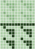 Il piccolo marmo piastrella brillante quadrato verde Fotografia Stock