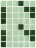 Il piccolo marmo piastrella brillante quadrato verde Fotografia Stock Libera da Diritti