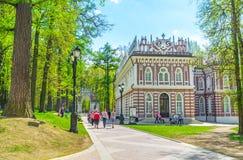 Il piccolo palazzo di Tsaritsyno Fotografia Stock