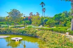 Il piccolo stagno in parco in Naxxar, Malta immagini stock libere da diritti