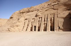Il piccolo tempio di Nefertari Abu Simbel, Egitto Fotografia Stock Libera da Diritti