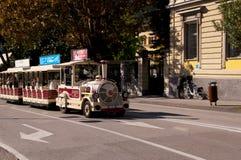 Il piccolo treno turistico in Riva Del Garda Italy Fotografia Stock Libera da Diritti