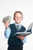 Il piccolo uomo d'affari Fotografie Stock Libere da Diritti
