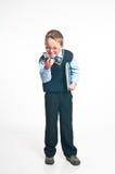 Il piccolo uomo d'affari Fotografia Stock