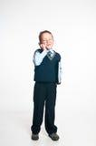 Il piccolo uomo d'affari Fotografia Stock Libera da Diritti