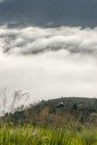 Il piccolo villaggio in nebbia, alcune dove vicino a Dalat, Vietnam Fotografia Stock Libera da Diritti