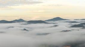 Il piccolo villaggio in nebbia, da qualche parte vicino a Dalat, Vietnmam Immagini Stock Libere da Diritti