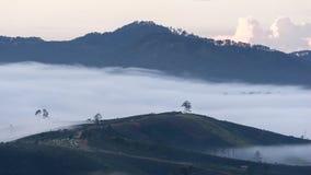 Il piccolo villaggio in nebbia, da qualche parte vicino a Dalat, Vietnmam Fotografie Stock