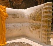 Il piede di buddha adagiantesi Fotografia Stock
