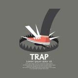 Il piede ha fatto un passo sulla trappola Fotografie Stock