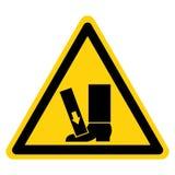 Il piede schiaccia la forza da sopra il segno di simbolo, illustrazione di vettore, isolato sull'etichetta bianca del fondo EPS10 illustrazione vettoriale