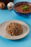 Il pilaf è alimento tradizionale turco con i fagioli e le cipolle Fotografia Stock
