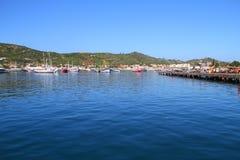 Il pilastro dei pescatori - Arraial faccia Cabo - il Brasile Immagini Stock Libere da Diritti