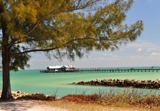 Il pilastro della città veduto dalla spiaggia Fotografie Stock Libere da Diritti
