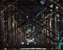 Il pilastro di Brighton veduto da sotto Fotografie Stock Libere da Diritti