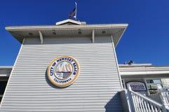 Il pilastro di OC Newport in California Fotografie Stock