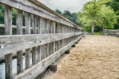 ` Il pilastro di pesca alla serie americana del ` di James del lago fotografia stock libera da diritti