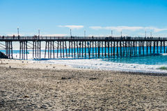Il pilastro di pesca in spiaggia imperiale Immagine Stock