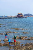 Il pilastro di Qingdao in Cina Immagine Stock