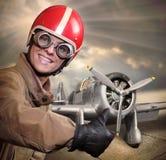 Il pilota Fotografie Stock Libere da Diritti