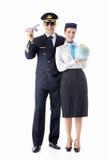 Il pilota e lo stewardess Fotografia Stock
