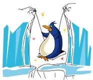 Il pinguino ritiene come un uccello illustrazione di stock
