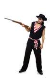 Il pirata dell'uomo sui precedenti bianchi Fotografie Stock Libere da Diritti