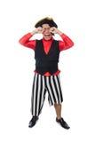 Il pirata divertente sul bianco Fotografie Stock Libere da Diritti