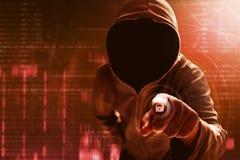 Il pirata informatico sblocca i dati immagine stock libera da diritti