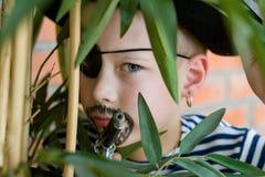 Il pirata nella giungla Fotografia Stock Libera da Diritti